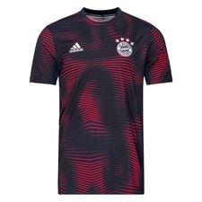 Bayern München Tränings T-Shirt Pre Match Parley - Navy/Röd Barn