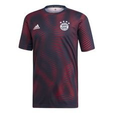Bayern München Tränings T-Shirt Pre Match Parley - Navy/Röd