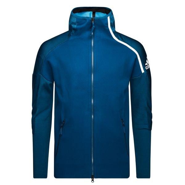 adidas Veste à Capuche FZ Z.N.E. Primeknit Bleu MarineBlanc