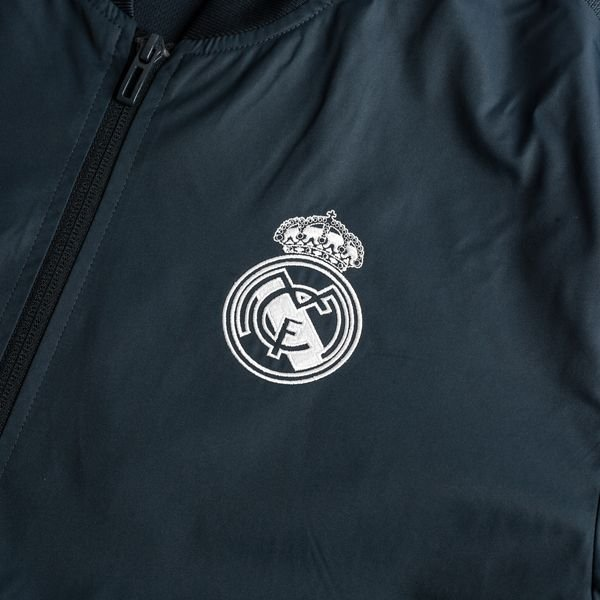f6c17f118 Real Madrid Jacket Anthem - Tech Onix/White | www.unisportstore.com