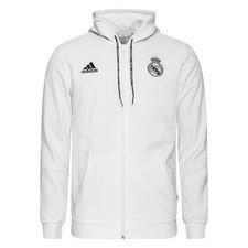 Real Madrid Luvtröja FZ - Vit/Grå