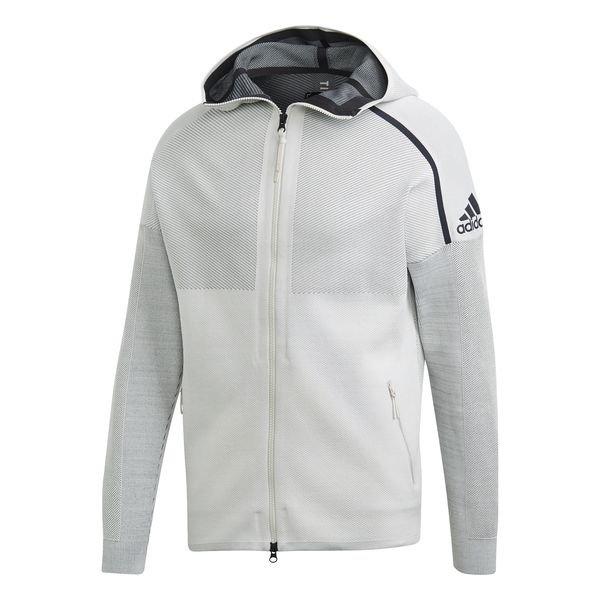adidas Veste à Capuche FZ Z.N.E. Primeknit Blanc BrutNoir