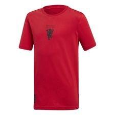 Manchester United T-Shirt Graphic - Röd/Svart Barn