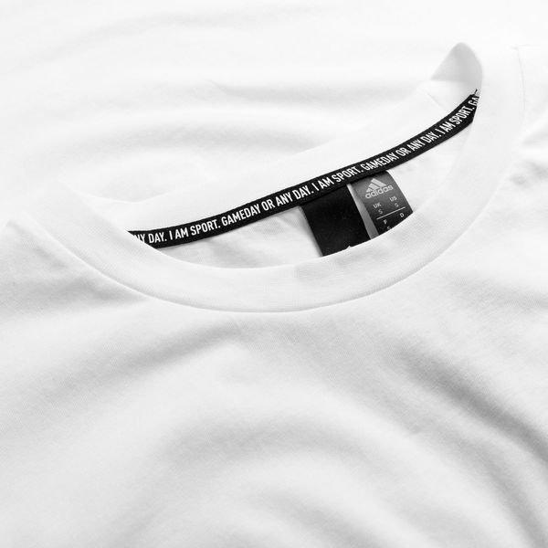 78a09c34 adidas T-Shirt Must Haves Plain - White/Black | www.unisportstore.com