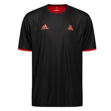 Image of   adidas Trænings T-Shirt Tango Vendbar - Sort/Rød