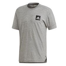 adidas t-shirt id 3s - grijs - t-shirts