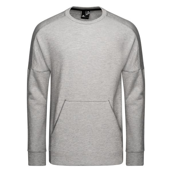 adidas Sweatshirt Crewneck Stadium GrauRaw White