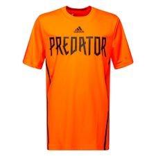 adidas trænings t-shirt predator - rød/sort børn - træningstrøjer