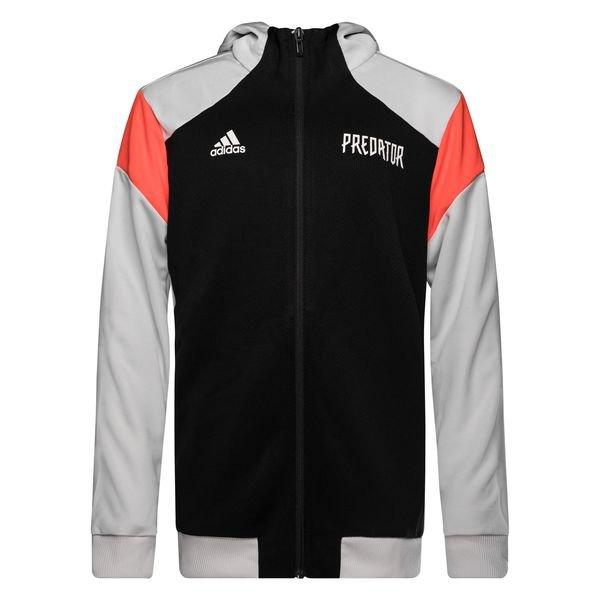d509d5a917e7 adidas Hoodie Predator HZ - Black/Grey/Solar Red Kids | www ...