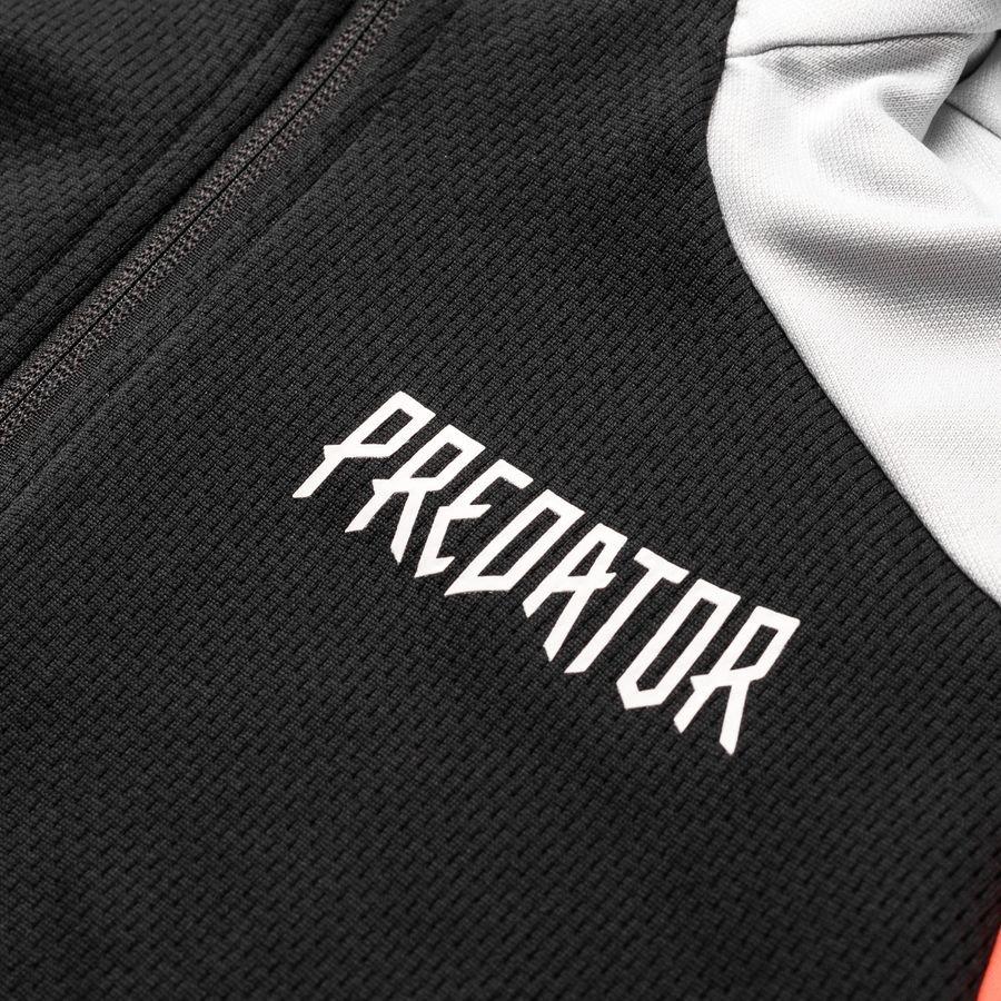 adidas Hoodie Predator HZ GrauRot Kinder