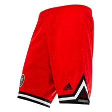 adidas Shorts Wendbare Paul Pogba Season 5 - Rot/Schwarz LIMITED EDITION