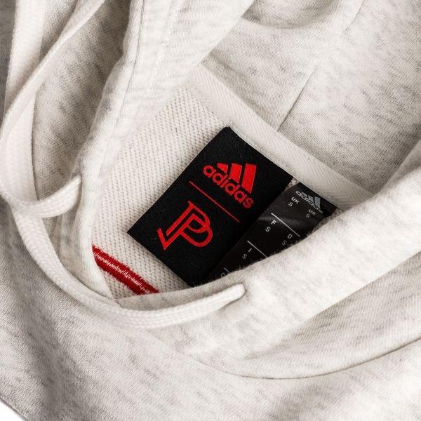 f1e729a7e adidas Hoodie Paul Pogba Season 5 - White Melange/Action Red LIMITED EDITION