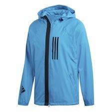 adidas jakke fleece lined id wnd - blå/sort - jakker