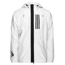 adidas jakke fleece lined id wnd - hvid/sort - jakker