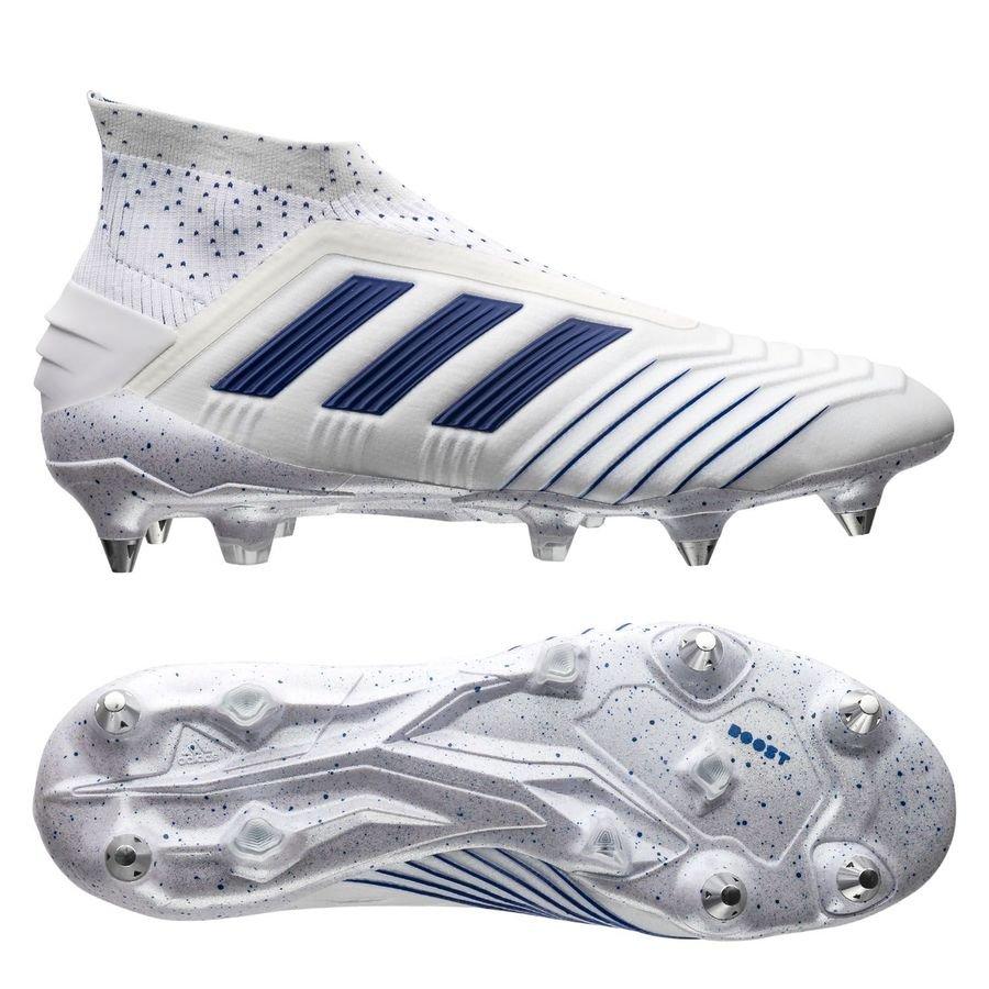 adidas Predator 19+ SG - Hvid/Blå