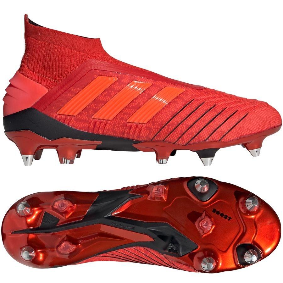 super popular 7ddd0 76243 adidas Predator 19+ SG Initiator - RødSort FORUDBESTILLING. Fodboldstøvler