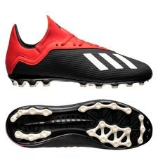 adidas X 18.3 AG Initiator - Zwart/Wit/Rood Kinderen