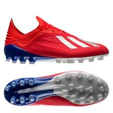 adidas X 18.1 AG Exhibit - Rood/Zilver/Blauw