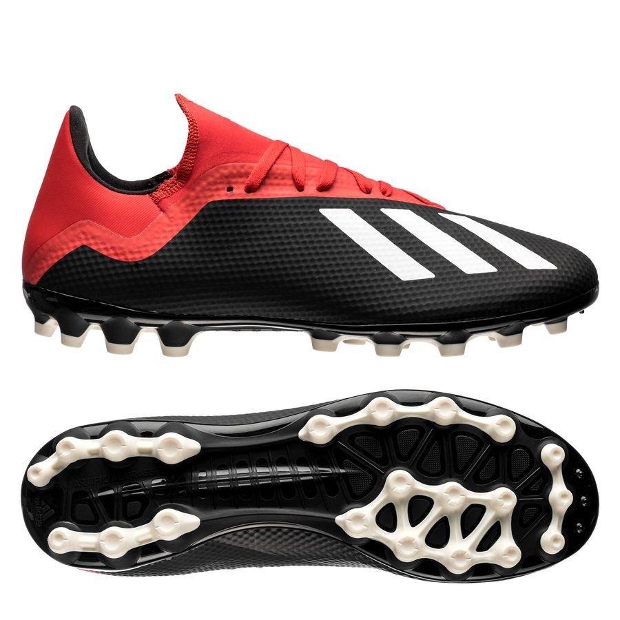 adidas X 18.3 AG - Sort/Hvid/Rød