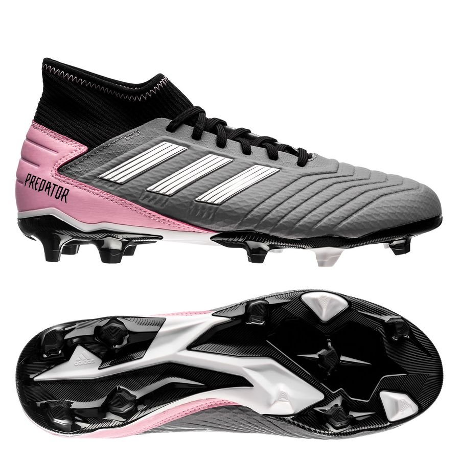 6518a1984845 adidas Predator 19.3 FG/AG Exhibit - Black/Silver Metallic/Pink Woman |  www.unisportstore.com