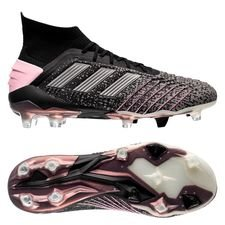 adidas Predator 19.1 FG/AG Exhibit - Core Black/Silver Metallic/Pink Women