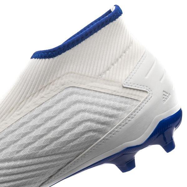 best website e1242 85445 adidas Predator 19.3 FG AG Laceless Virtuso - Weiß Silber Blau 6