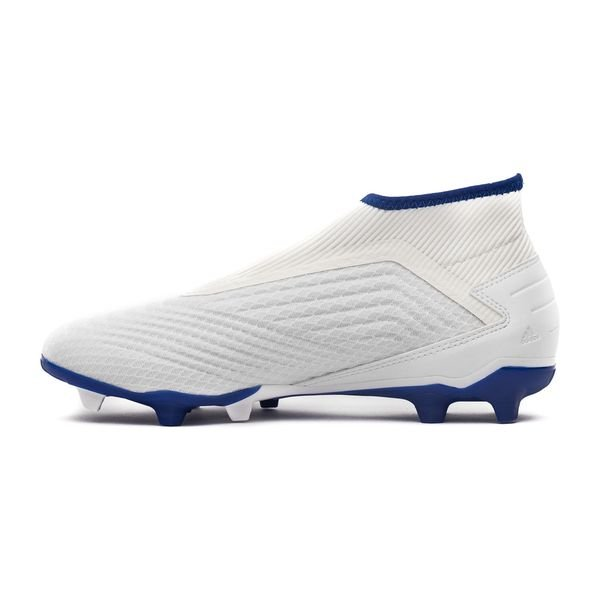 new product fa413 02918 adidas Predator 19.3 FG AG Laceless Virtuso - Weiß Silber Blau 1