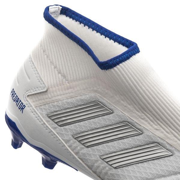 check-out f7b0e c93bf adidas Predator 19.3 FG/AG Laceless Virtuso - Blanc/Argenté/Bleu