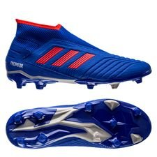 adidas Predator 19.3 FG/AG Laceless Exhibit - Blauw/Rood/Zilver