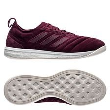 adidas copa 19+ indoor trainer boost - maroon/white limited edition - indoor shoes