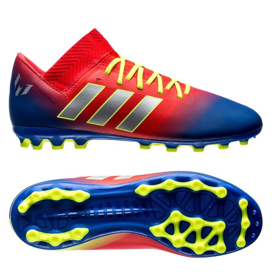 80c611dc9d94 adidas nemeziz messi 18.3 ag initiator - rot silber blau kinder -  fußballschuhe ...