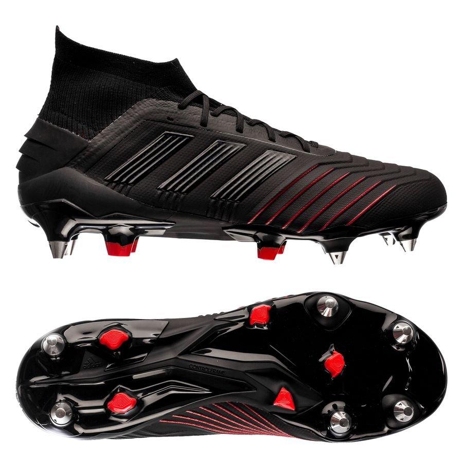 adidas Predator 19.1 SG - Sort/Rød