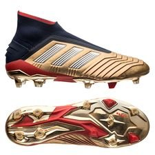 adidas predator 19+ zz & db icon fg/ag - gold metallic/silver metallic/navy limited edition - football boots