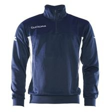 Diadora Trainingsshirt Barkly West 1/2 Zip - Navy/Wit Kinderen