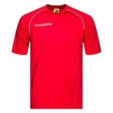 Diadora Voetbalshirt Madrid - Rood/Wit Kinderen