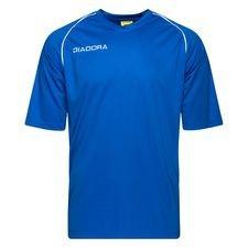 diadora spilletrøje madrid - blå/hvid børn - fodboldtrøjer