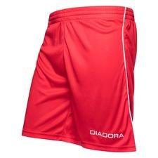diadora shorts madrid - rød/hvid - fodboldshorts