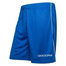 diadora shorts madrid - blå/hvid børn - fodboldshorts