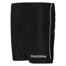 diadora shorts madrid - sort/hvid børn - fodboldshorts