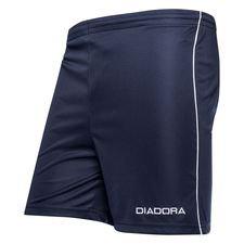 diadora shorts madrid - navy/hvid børn - fodboldshorts