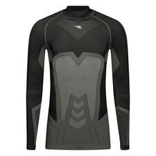 Diadora Baselayer Turtleneck Seamless - Schwarz/Grau