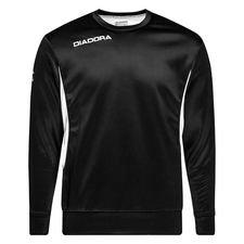 diadora træningstrøje messina - sort/hvid - træningstrøjer