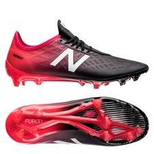 new balance furon 4.0 pro fg - pink/sort - fodboldstøvler
