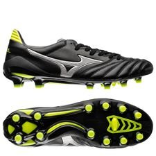 mizuno morelia neo ii made in japan fg black star - black/silver/yellow - football boots