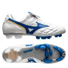 Mizuno Wave Cup Legend FG - Vit/Blå LIMITED EDITION