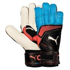 puma målvaktshandske one grip 1 rc power up - svart/blå/röd - målvaktshandskar