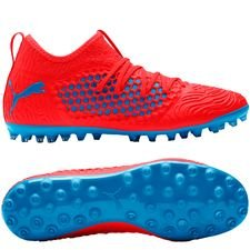 PUMA Future 19.3 Netfit MG Power Up - Rouge/Bleu PRÉ-COMMANDE