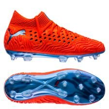 PUMA Future 19.1 Netfit FG/AG Power Up - Rot/Blau Kinder