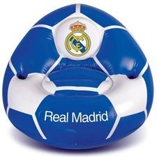 Real Madrid Uppblåsbar Stol - Vit/Blå