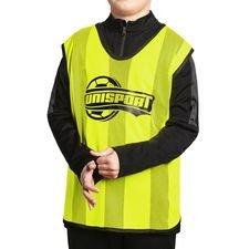 unisport väst - gul barn - träningsutrustning